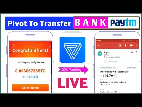 Pivot App To Paytm Transfer Live | Daily Income $10-20 Easy | Earn Money Pivot App