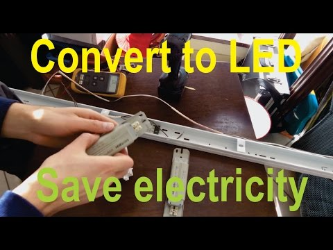 Convert a fluorescent tube fixture to LED