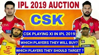 IPL 2019 : CSK WILL BUY & TARGET THIS PLAYERS IN IPL AUCTION   CSK PLAYING XI   YUVRAJ IN CSK  
