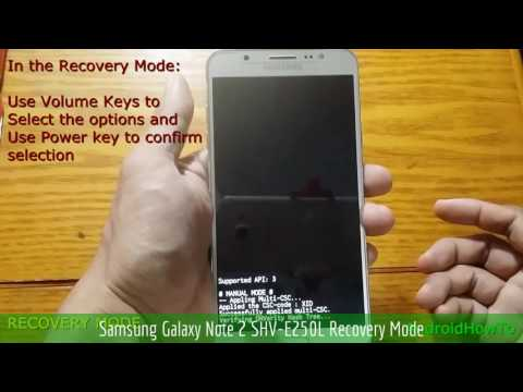 Samsung Galaxy Note 2 SHV-E250L Recovery Mode - YouTube