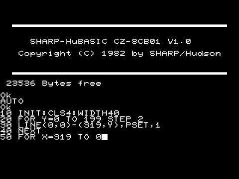 SHARP X1 Hu-BASIC 簡易グラフィ...