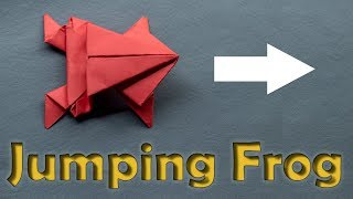 Jumping Frog, Paper origami, EASY and QUICK || Episode 7