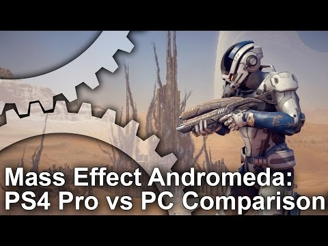 [4K] Mass Effect Andromeda: PS4 Pro vs PS4/PC Comparison + Frame-Rate Test