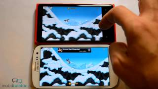 Nokia Lumia 920 vs Samsung Galaxy S 3: сравнение (speed comparison)(Читать на сайте - http://mobiltelefon.ru/post_1354560747.html Цена дня на Lumia 920 - http://bit.ly/1GuuOAD Цена дня на Samsung Galaxy S3 ..., 2012-11-19T08:46:49.000Z)