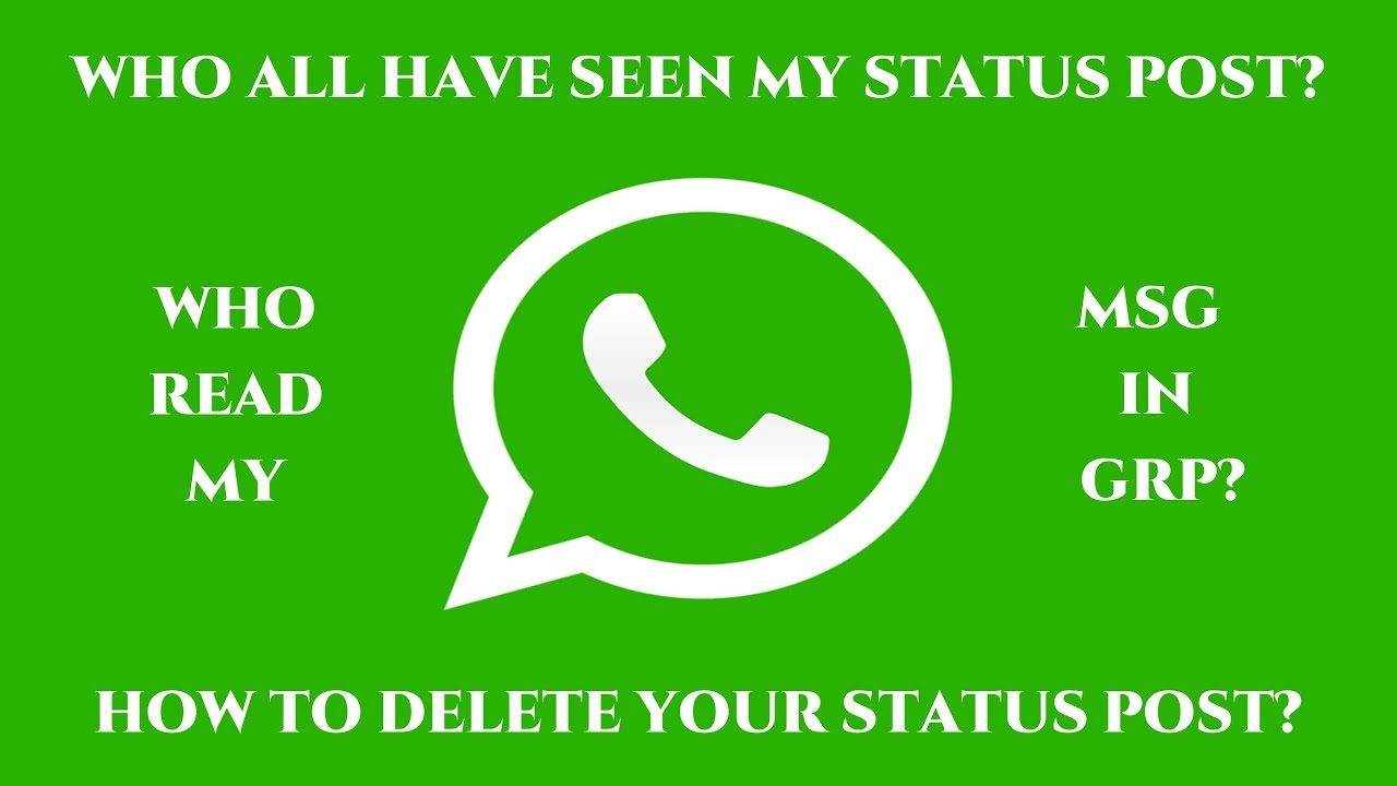 Whatsapp Tricks Who Seen My Status Who Read My Group Messages Etc