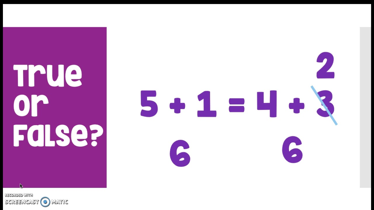 medium resolution of Understand the meaning of the equal sign (worksheets
