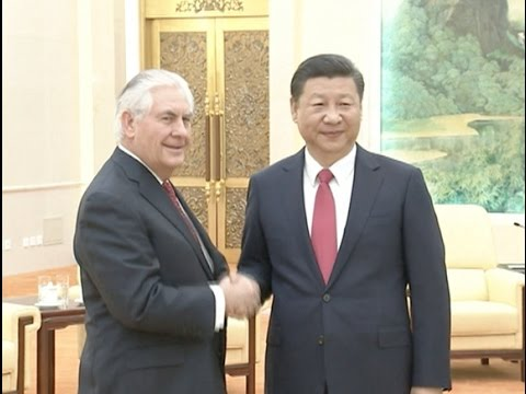 Chinese President Xi Meets U.S.  Secretary of State Tillerson