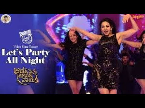 Lets Get The Party Full Video Song JAYA JANAKI NAYAKA