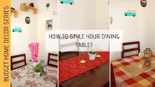 How to decorate Dining Table    Dining Table decoration   Indian Home Decor