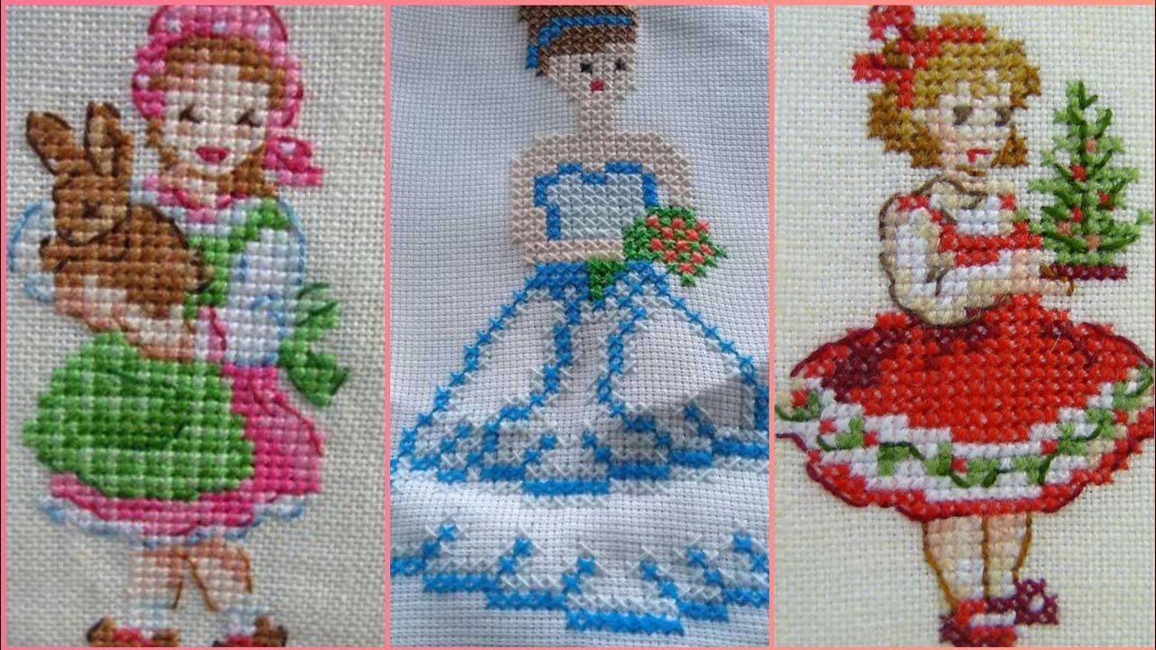 Beautiful And Easy Cross Stitch Doll Patterns Youtube