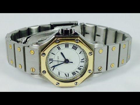 22f46ff7b606 (A LA VENTA) Reloj Cartier Santos Para Dama - YouTube