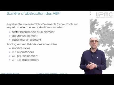 7/1 Arbres binaires de recherche - MOOC Programmation récursive