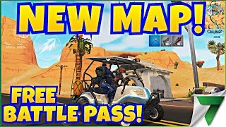 NEW SEASON 5 NEW MAP AND FREE BATTLE PASS!! | Fortnite Mobile