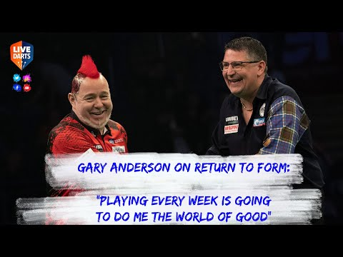 """Gary Anderson on return to form: """"Playing every week is going to do me the world of good"""""""
