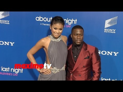 "Kevin Hart and Hot Girlfriend Eniko Parrish ""About Last Night"" Los Angeles Premiere"