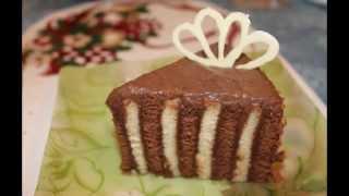 Ванильно шоколадный торт  Вкуснятина