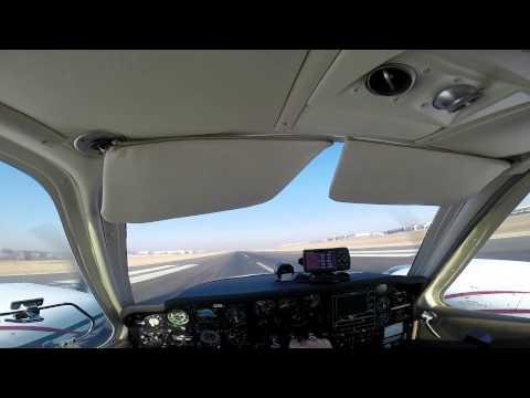 GoPro HD: Pilots's eye view of Beechcraft Baron flight