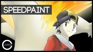 Drawing Pokemon Trainer Ethan and Typhlosion