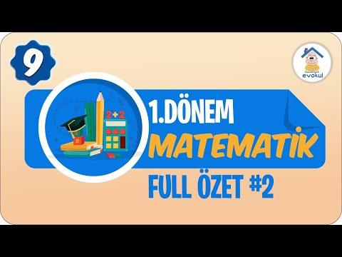 Matematik 1. Dönem Full Özet- 2   9. Sınıf #uzaktaneğitim #evokul Kampı 8