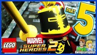 Lego Marvel Super Heroes 2 - Walkthrough Part 5 Castle Hassle Sir Percy