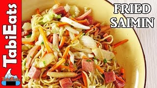 SPAM FRIED SAIMIN-Cooking Hawaiian-Style Fried Noodles (Recipe)
