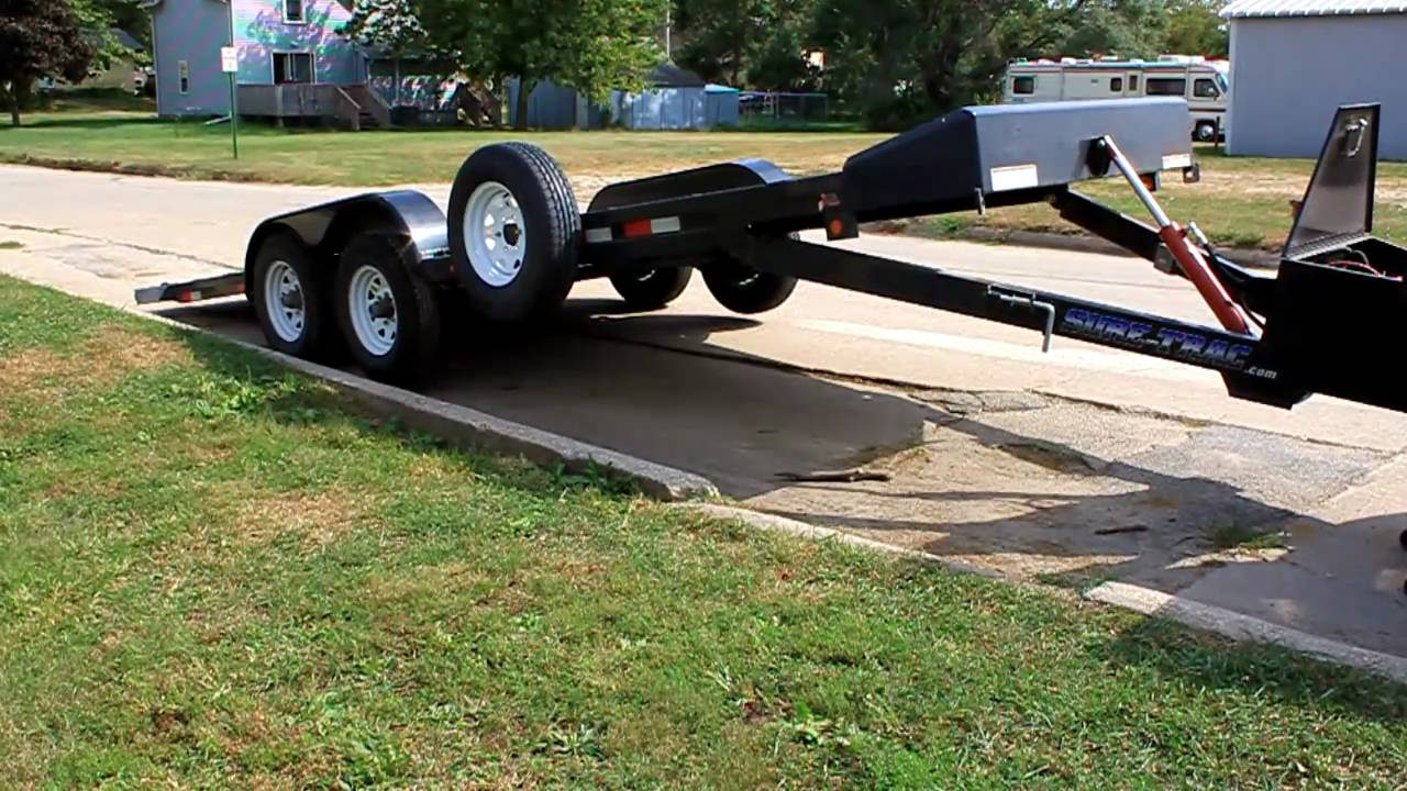 Sure Trac 10 000 Lb Trailer Electric Tilt Bed Youtube