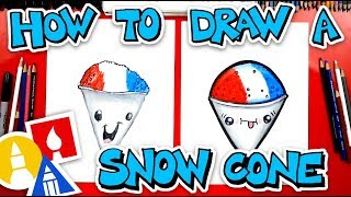 How To Draw A Funny Snow Cone