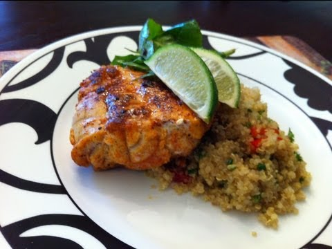 Delicious Seared Monkfish With Quinoa Recipe - Knockout Kitchen