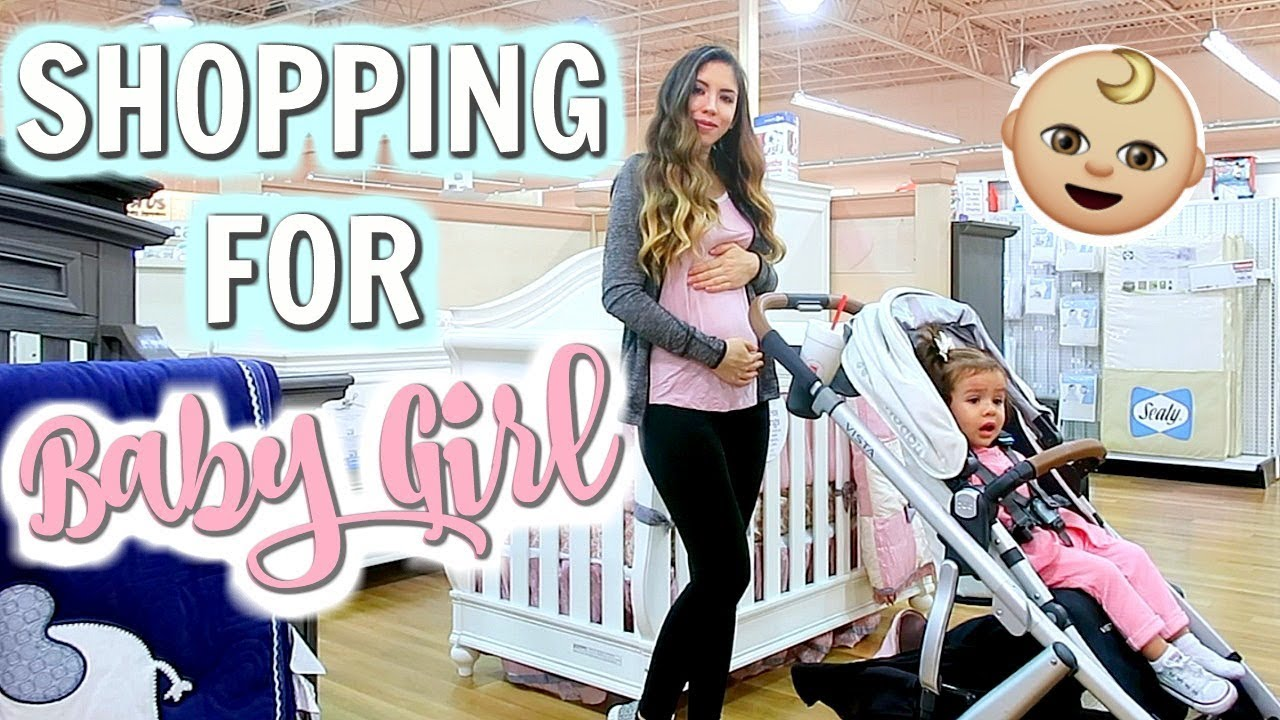 FIRST TIME SHOPPING FOR BABY GIRL! - YouTube