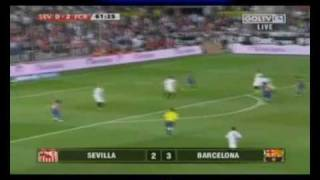 liga bbva 2009 2010 j37 sevilla fc 2 fc barcelona 3