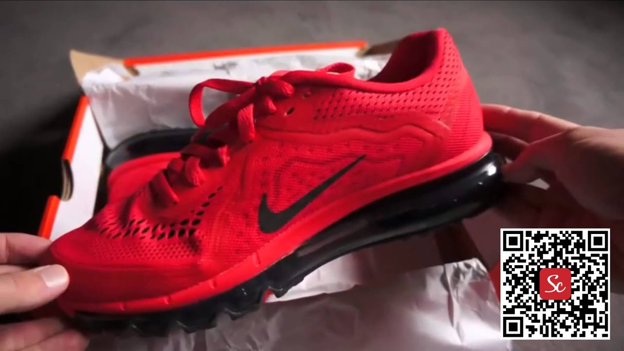 6f5cc33cfda4f8 Solecool App - Nike Air Max 2014 Red Black Review On Feet - YouTube