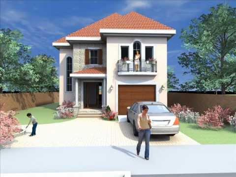 Casa Parter Si Etaj Moderna Stil American. Proiect Casa C01 Www.oncasa.ro.  Casa Cu Etaj