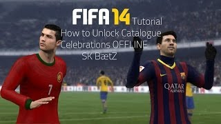How to Unlock FIFA 14 All Celebraions EASFC Celebrations Offline.Unlock ALL Celebrations FIFA 14
