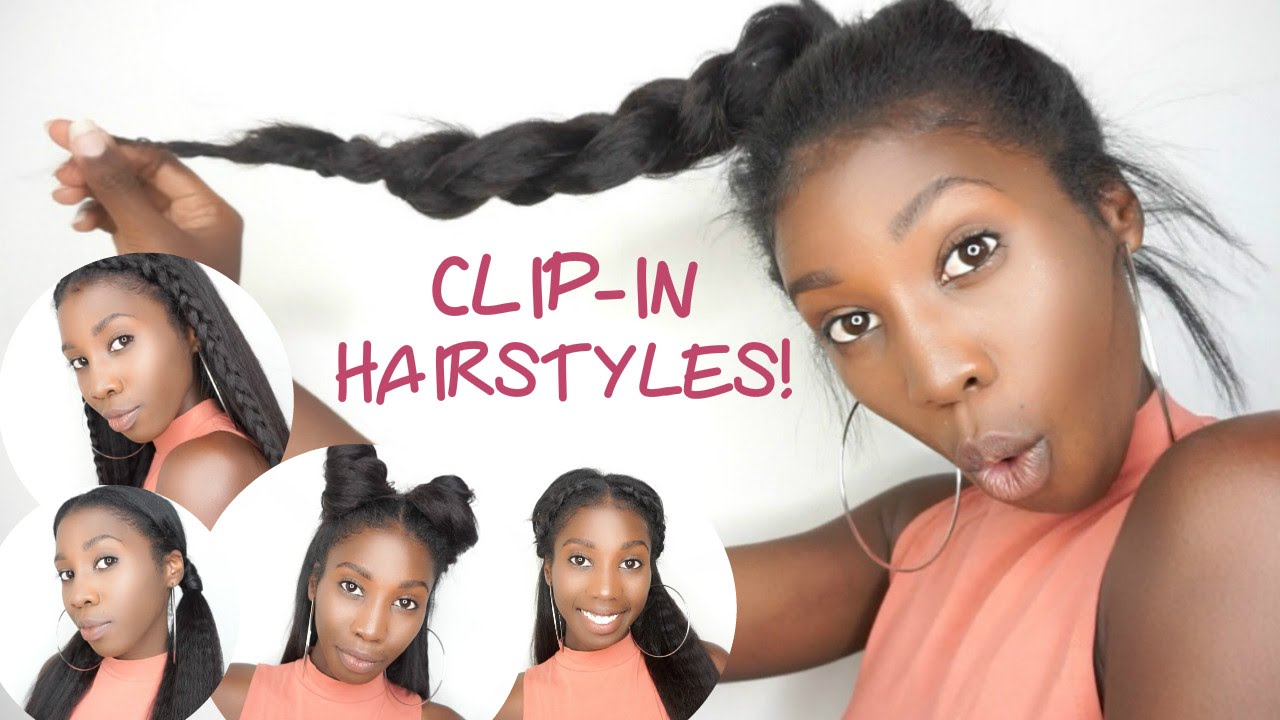5 easy clip-in back to school hairstyles! | knappy hair extensions