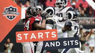 Fantasy Football 2019 Starts and Sits Week 16