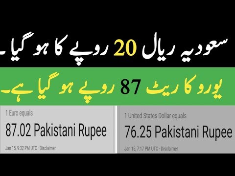 Saudia Rial Rate in Pakistan Usd Doller Rates in Pakistan | Euro Rates in Pakistan