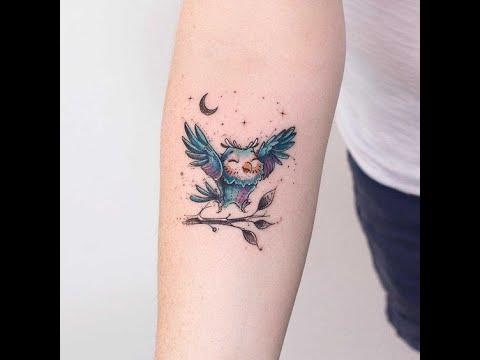 65 Small Owl Tattoos | Small Wrist tattoo designs ...