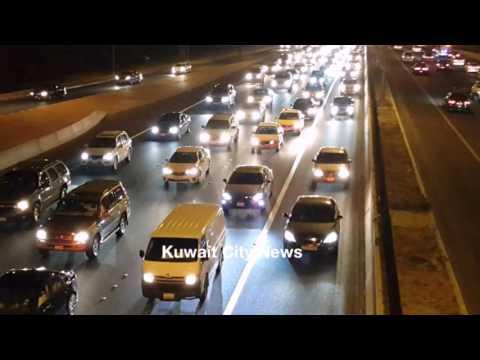 Traffic jam at road 30 Kuwait 05/03/2016