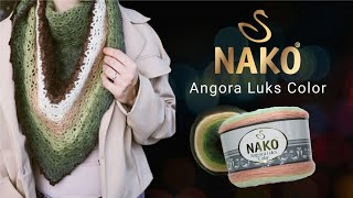 Angora Luks Color Nako -  пушистая и многоцветная пряжа с резкой сменой цветов