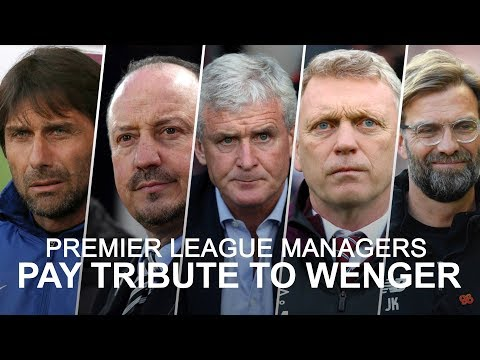 Premier league managers pay tribute to wenger