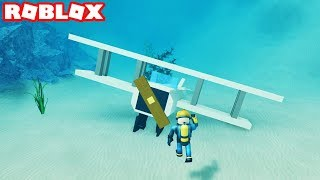THE STRANDED PILOT! SCUBA DIVING AT QUILL LAKE IN ROBLOX (Epsiode #5)