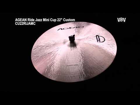 "22"" Ride Jazz Mini Cup Custom video"
