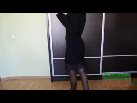 как удлинить платье кружевом
