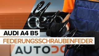 Wie Sie Bremsbackensatz für Trommelbremse beim AUDI A4 (8D2, B5) selbstständig austauschen - Videoanleitung
