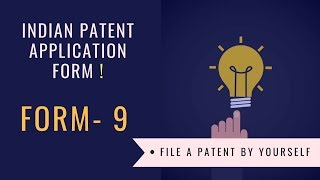 Early publication of patent application in India | Form 09 | Indian Patent Application form