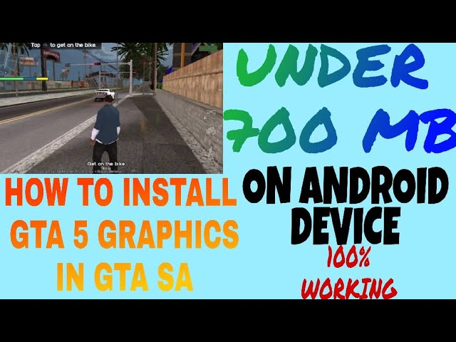 How to enter GTA 5 MOD GRAPHICS in GTA SAN ANDREAS by king gamer
