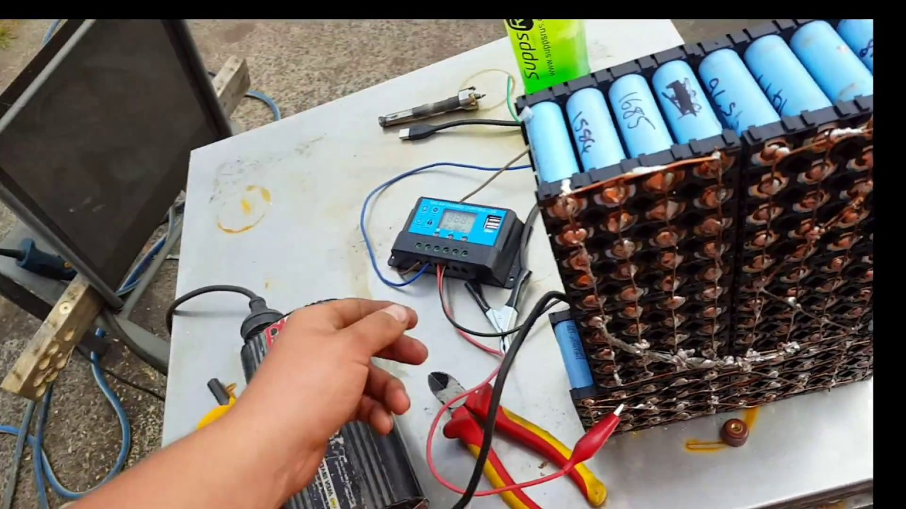 Lithium Battery Pack >> Playing with my new PWM solar controller on a 3s 18650 li ion pack - YouTube