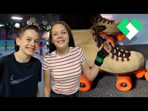 Kids First Time Roller Skating! | Clintus.tv