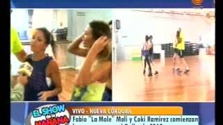 Fabio La Mole Moli y Coki Ramírez comienzan los ensayos para el Bailando 30 03 2015