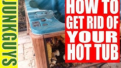How to get rid of a Hot Tub in the backyard 4 Easy Steps /  dfwjunkguys.com